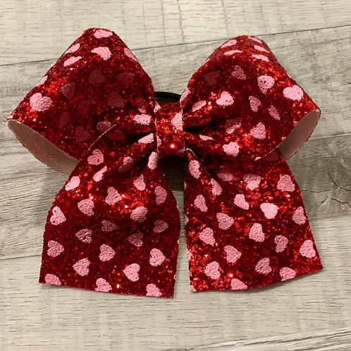 Red Heart Chunky Glitter Cheer Bow