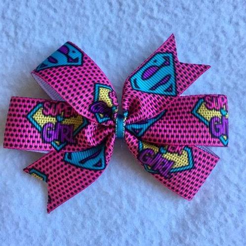 Super Girl mini pinwheel bow