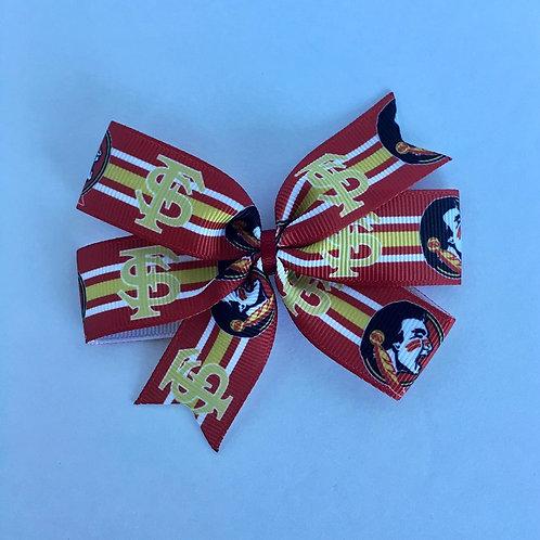 Florida State Seminoles mini pinwheel bow