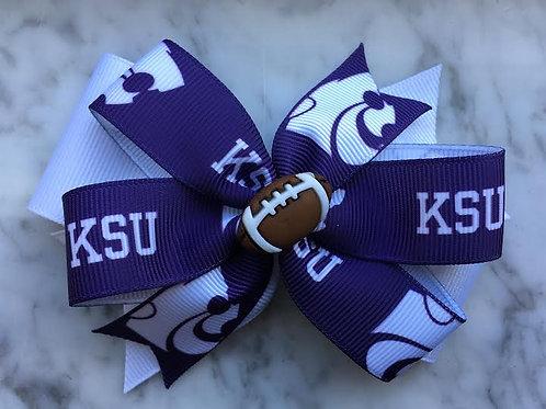 Kansas State Wildcats double pinwheel bow