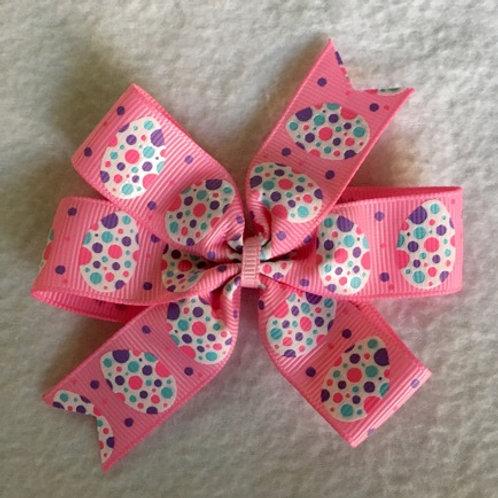 Pink Eggs Mini Pinwheel Bow