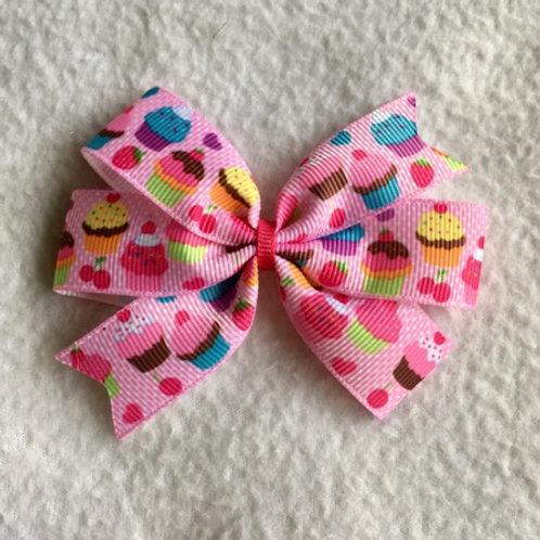 Cupcakes Mini Pinwheel Bow