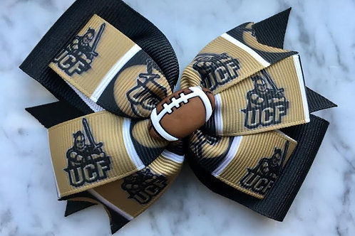 University of Central Florida Knights double pinwheel bow