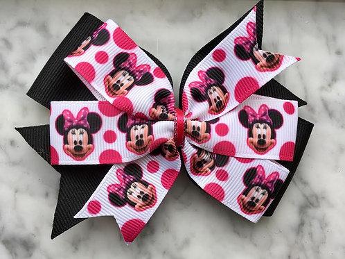 Minnie Mouse Double Pinwheel Bow