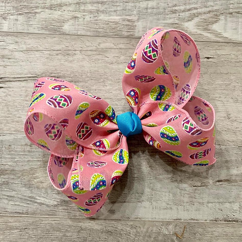 Easter Eggs Loopy Bow