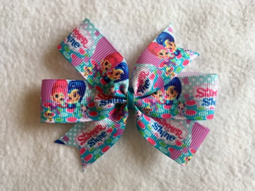Shimmer & Shine mini pinwheel bow