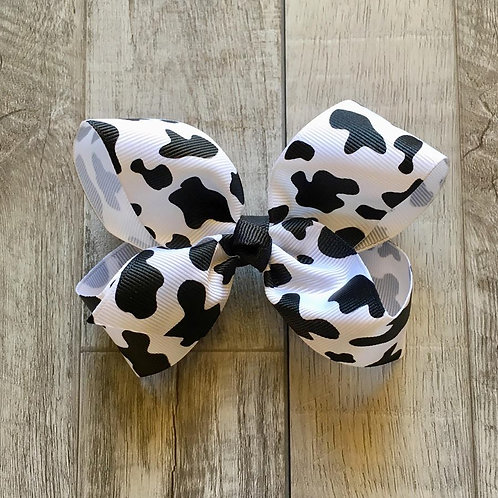Cow print Loopy Bow