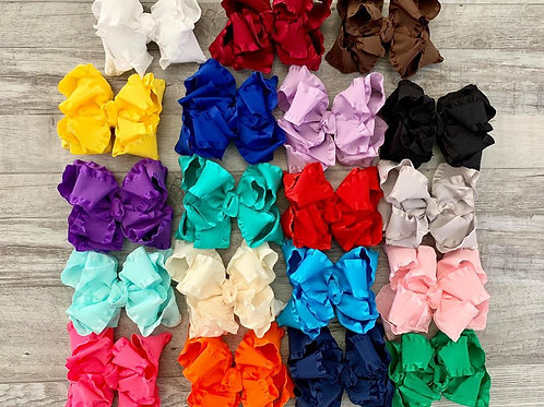 Ruffle Loopy Bow (Click to see all colors)