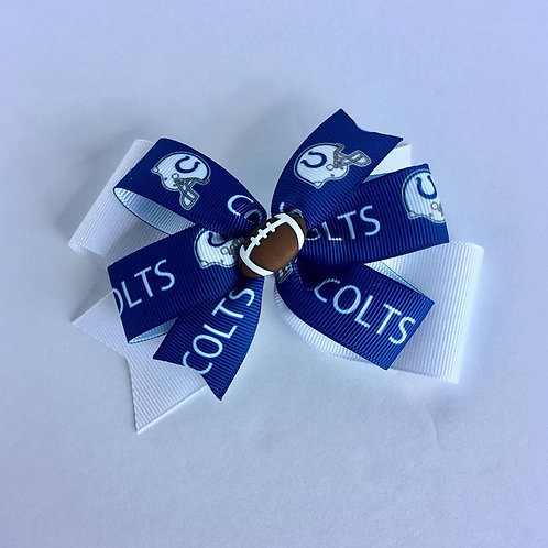 Indianapolis Colts double pinwheel bow