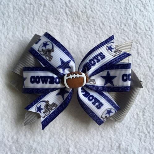 Dallas Cowboys stars double pinwheel bow