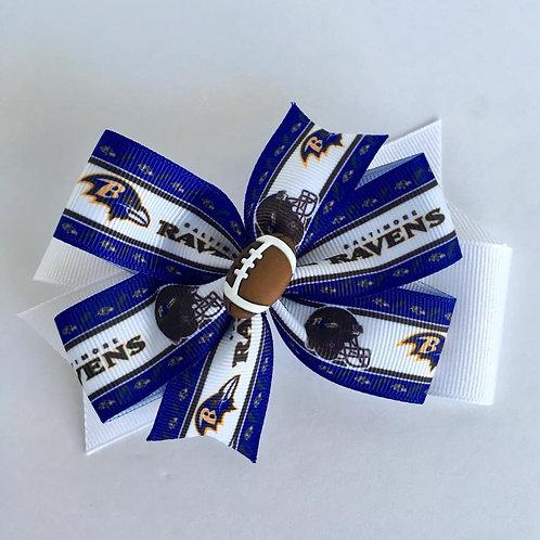 Baltimore Ravens double pinwheel bow