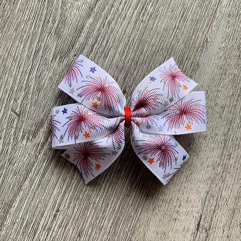 Fireworks Mini Pinwheel Bow