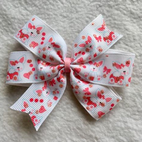 Easter Bunnies Mini Pinwheel Bow
