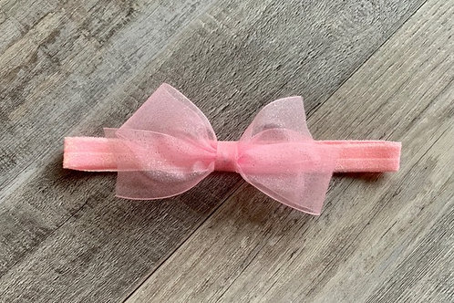 Pink Sheer Sparkle Baby Headband