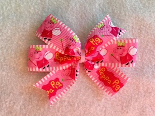 Peppa Pig mini pinwheel bow