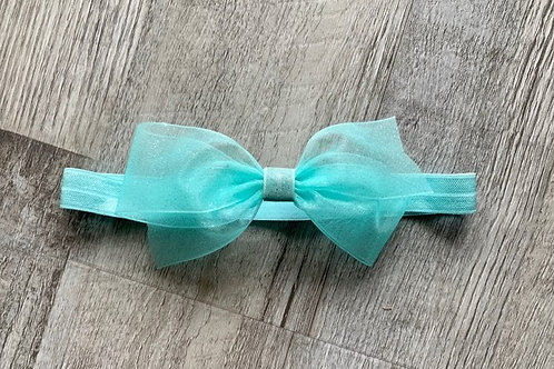 Aqua Sheer Sparkle Baby Headband