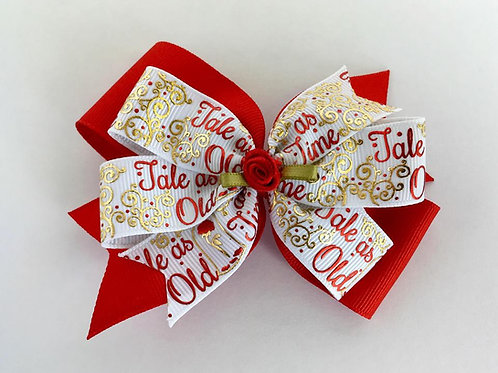 Tale as Old as Time Double Pinwheel Bow