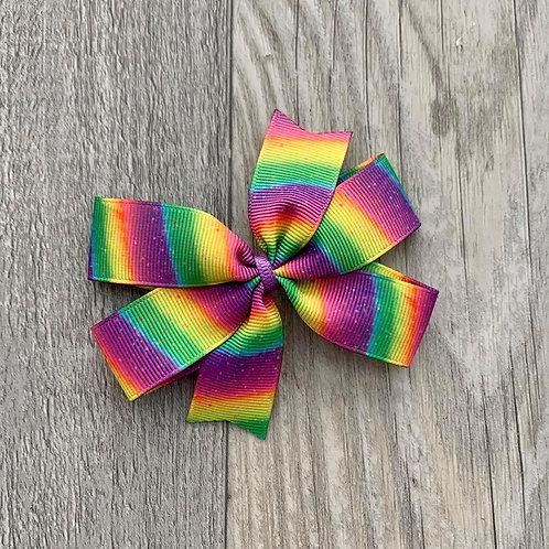 Rainbow Mini Pinwheel Bow