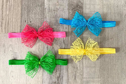 Vibrant Lace Pinwheel Headband