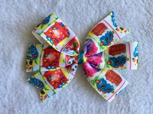 Shopkins mini pinwheel bow