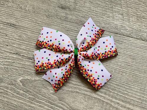 Holiday Confetti mini pinwheel bow