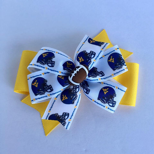 West Virginia Mountaineers double pinwheel bow