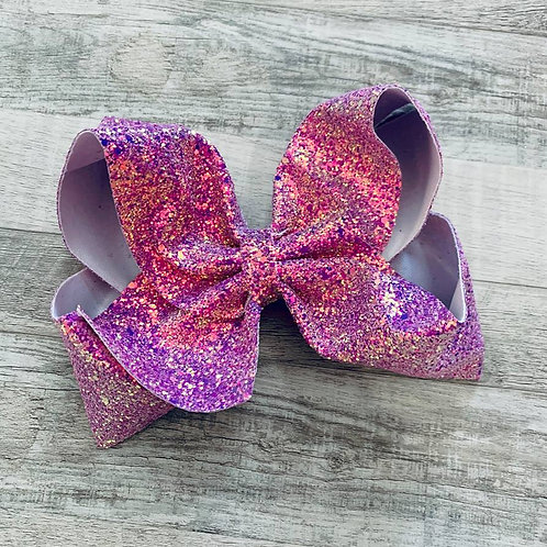 Orchid Chunky Glitter Texas sized Loopy Bow