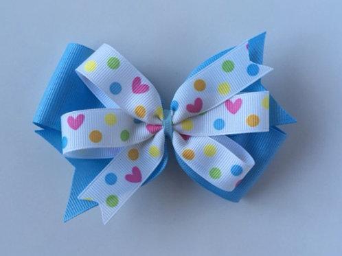 Hearts & Dots Double Pinwheel Bow