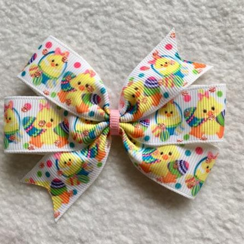 Easter Chicks & Eggs Mini Pinwheel Bow