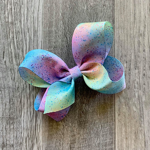 Watercolor Pastel Loopy Bow