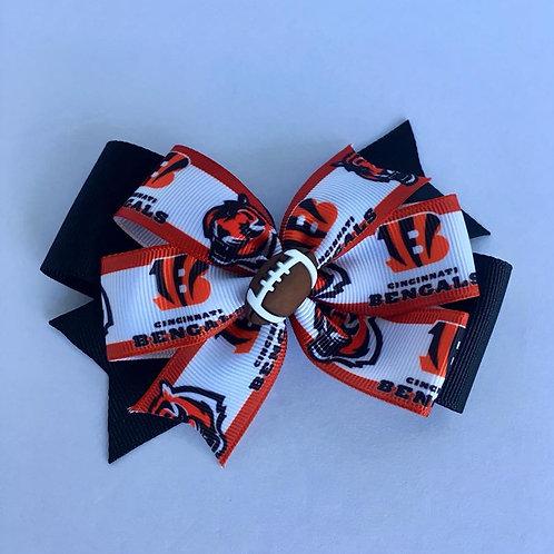 Cincinnati Bengals double pinwheel bow