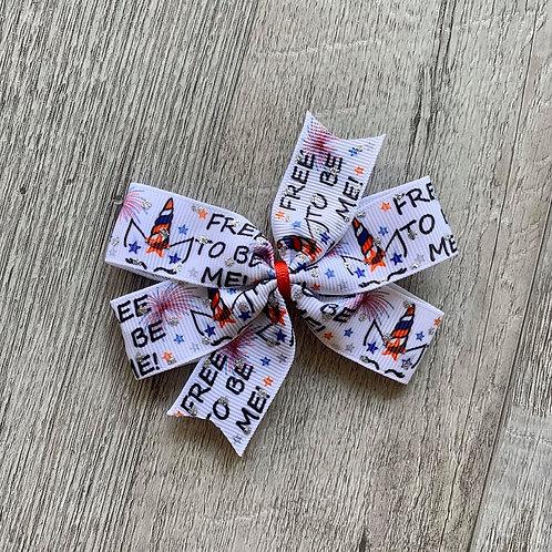 Free to be Me Mini Pinwheel Bow