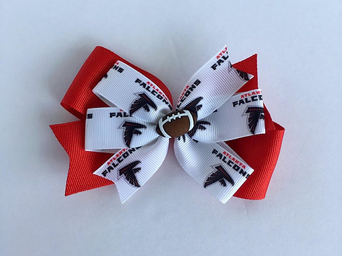 Atlanta Falcons double pinwheel bow