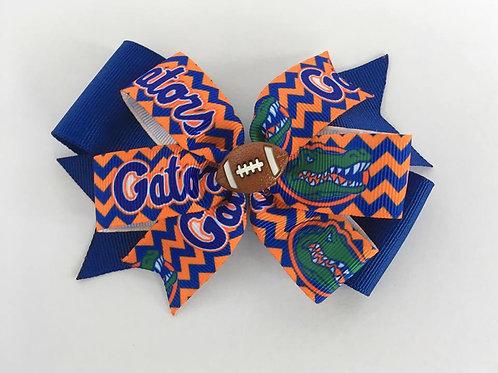 University of Florida Gators chevron double pinwheel bow