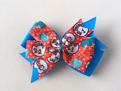 Dr. Seuss double pinwheel bow