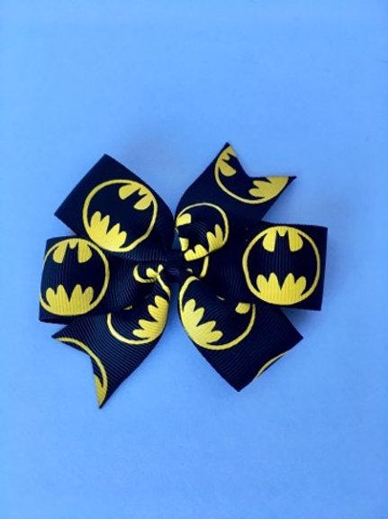 Batman mini pinwheel bow