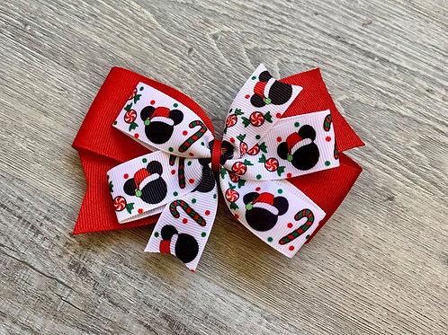 Disney Christmas Double Pinwheel Bow