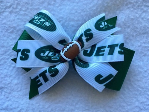 New York Jets double pinwheel bow