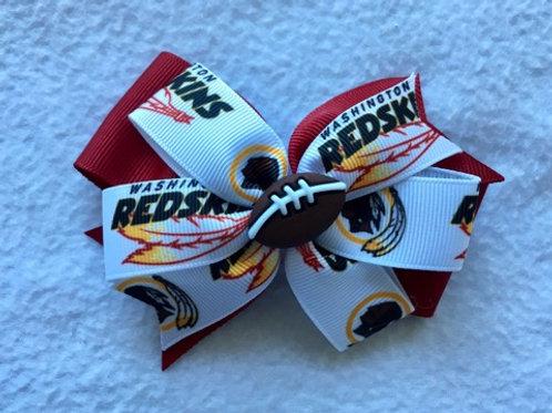 Washington Redskins double pinwheel bow