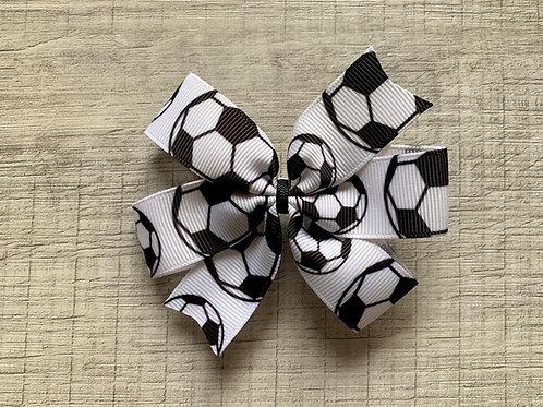 Soccer mini pinwheel bow