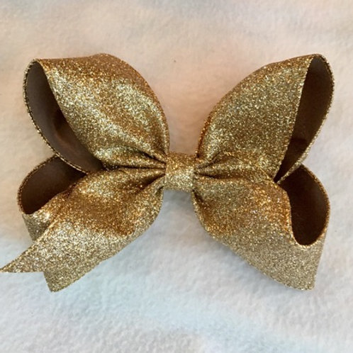 Champagne Glitter Loopy Bow