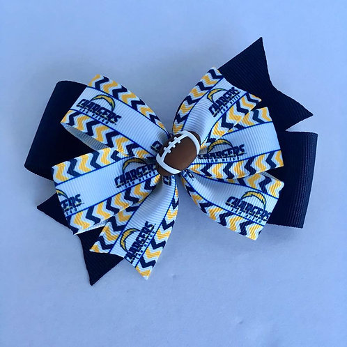 Los Angeles Chargers double pinwheel bow