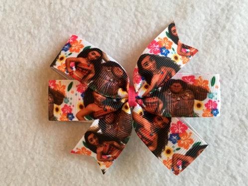 Moana & Maui Mini Pinwheel Bow