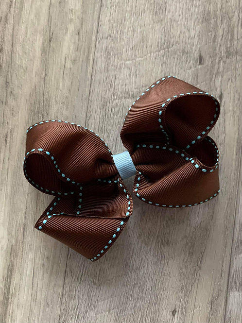 SALE Brown Loopy Bow