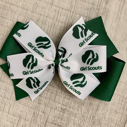 Girl Scout double pinwheel bow