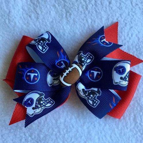 Tennessee Titans double pinwheel bow