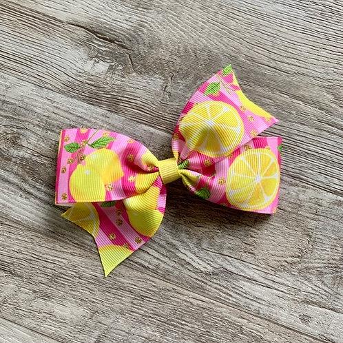 Pink Lemonade single loop bow