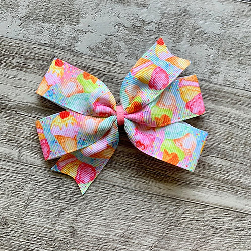 Ice Cream Dream Mini Pinwheel Bow