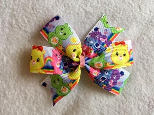 Care Bears mini pinwheel bow
