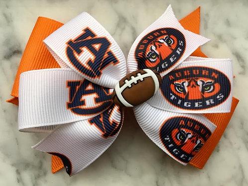 Auburn Tigers double pinwheel bow